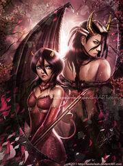Bleach rukia and byakuya by keelerleah-d37wavp