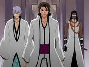 O145 Aizen, Gin i Tosen pojawiają się na spotkaniu Espady