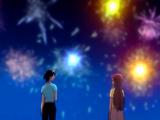 O20 Tatsuki i Orihime na tle sztucznych ogni