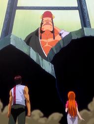 O21 Jidanbo odgradza drogę Orihime i Sado