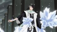 Byakuya Caught In The Ice