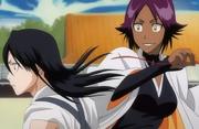 Yoruichi menggoda Byakuya