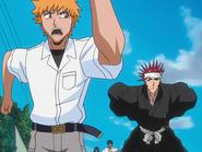 O65 Ichigo, Uryu, Sado i Renji wykonują polecenie porywacza