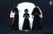 Kuramadani acompaña a Yuki y Shino al Mundo Humano