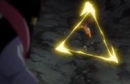 Yoruichi uses Hitotsu Sansen on Tobiume