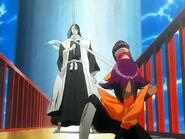 Yoruichi detiene la liberacion de Byakuya