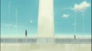 Haruzo prepares to jump