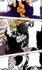 Baraggan atacando a Hachigen