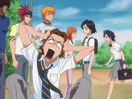 O67 Tasuki, Keigo i Mizuiro spotykają Ichigo, Orihime, Renjiego i Kurodo