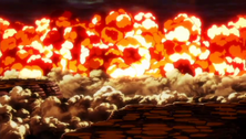 Explosión causada por el cero del Hollow de Ichigo