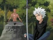 Hitsugaya dan Ikkaku melakukan Jinzen