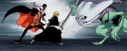 30Ichigo and Demi-Hollow clash