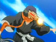 Yumichika recibe un fuego artificial en la cara