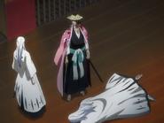 Reigais Kyoraku and Ukitake Injure Ukitake