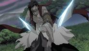 Koga quebrando a Muramasa