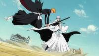 Ichigo ataca a gin