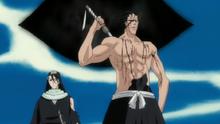 Kenpachi et Byakuya retournent à la Soul Society