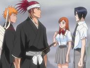 O68 Ichigo, Renji, Orihime i Uryu pojawiają się po drugiej stronie portalu