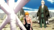O309 Ichigo i Kisuke patrzą na zapieczętowanego Aizena