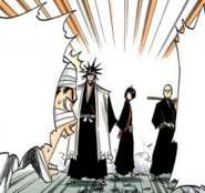 137Kenpachi, Ikkaku, and Yumichika enter