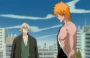 Ichigo habla con Kisuke