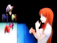O13 Orihime zdziwiona widokiem Shun Shun Rikka