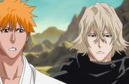 Urahara and Ichigo prepare to leave