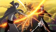 Shuren peleando con Ichigo