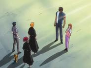O66 Kurodo w przebraniu i Orihime zostają odnalezieni przez Ichigo, Uryu, Renjiego i Kona