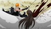 Ichigo corta a Aizen