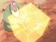 Hachigen curando a Tsubaki