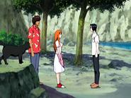 O18 Uryu spotyka Yoruichi, Sado i Orihime