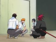 O65 Renji, Ichigo, Uryu i Sado obmyślają plan