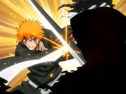 Ichigo lucha contra Zangetsu