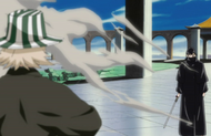 Ep.338 - Reigai-Kisuke Urahara greeting Urahara after Urahara's surprise attack