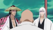 Reigais Ukitake And Kyoraku Attack Yamamoto