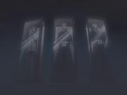 O66 Ichigo, Uryu i Renji uwięzieni w gablotach