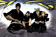 164Orihime, Sado, Uryu, and Ganju reach