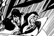 Byakuya enfurecido ataca a Äs Nödt