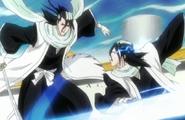 Byakuya vs Reigai Kuchiki