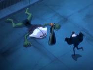 O10 Don Kanonji tańczy ze szczęścia z powodu zwycięstwa Ichigo nad Demi-Hollowem