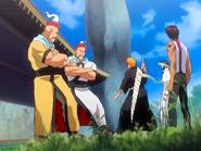 O23 Koganehiko i Shiroganehiko stają na drodze Ichigo, Uryu i Sado