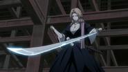 Rangiku finds herself unable to wield her katana