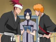 O66 Uryu, Ichigo i Renji analizują labirynt