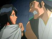Ganju se encara con Rukia