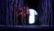 Rangiku and Nanao make their way through the Dangai