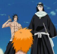 L'arrivée de Byakuya et Kenpachi