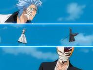 O139 Grimmjow zaskoczony maską Ichigo