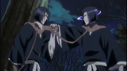 Yumichika pinned by his Reigai counterpart