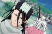 Byakuya menghabisi Zommari Rureaux